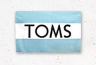Codice coupon Toms per sconto 10% con iscrizione alla newsletter